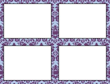 Blank Task Cards: Amethyst Collection | Editable PowerPoint
