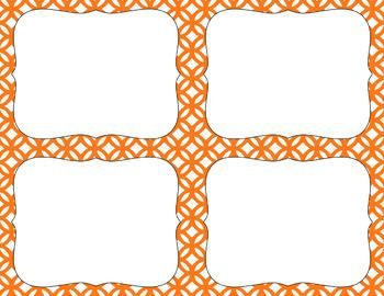 Blank Task Cards - Basics: Abstract Circles & White   Editable PowerPoint