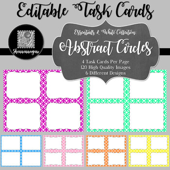 Blank Task Cards - Essentials & White: Abstract Circles