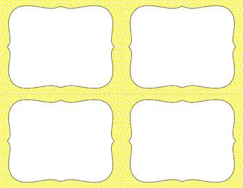 Blank Task Cards - Basics: Brick Path & White | Editable PowerPoint