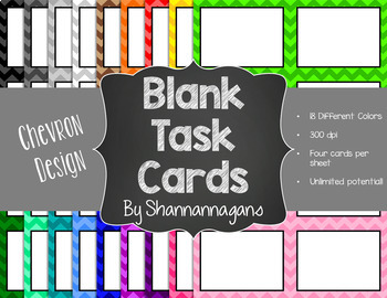 Blank Task Cards-Basics: Bundle (300dpi) with Editable PowerPoints