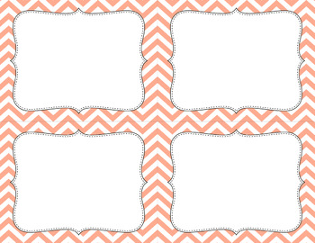 Blank Task Cards - Essentials & White: Chevron