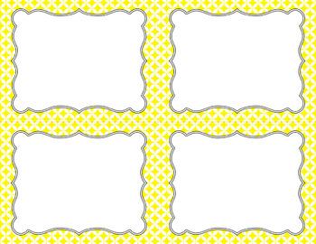 Blank Task Cards - Essentials & White: Circle Diamonds