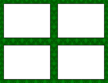 Blank Task Cards - Basics: Diamond Scallops | Editable PowerPoint