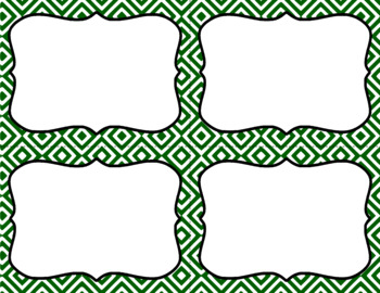 Blank Task Cards - Basics: Diamonds & White | Editable PowerPoint