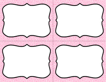 Blank Task Cards - Basics: Greek Key & White | Editable PowerPoint