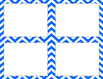Blank Task Cards - Essentials & White: Jumbo Chevron