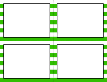 Blank Task Cards - Basics: Jumbo Stripes & White | Editable PowerPoint