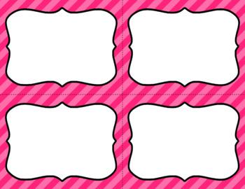 Blank Task Cards - Basics: Diagonal Stripes | Editable PowerPoint
