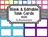 Blank Task Cards - Basics: Solids | Editable PowerPoint