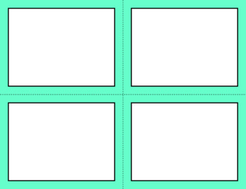 Blank Task Cards - Basics: Solids | Editable PowerPoint