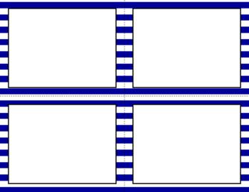 Blank Task Cards - Basics: Stripes & White | Editable PowerPoint