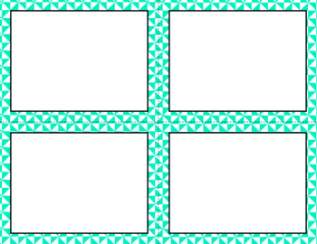 Blank Task Cards - Basics: Triangles & White | Editable PowerPoint