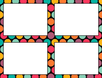 Blank Task Cards: Bohemian Collection (300dpi) | Editable PowerPoint