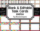 Blank Task Cards: Bohemian | Editable PowerPoint