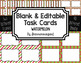 Blank Task Cards-Bundle: Marketplace (300dpi) with Editable PowerPoints