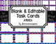 Blank Task Cards-Bundle: Mountain (300dpi) with Editable PowerPoints