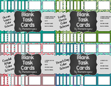Blank Task Cards-Bundle: Vacation (300dpi) with Editable PowerPoints