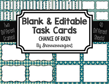 Blank Task Cards-Color Scheme: Chance of Rain (300dpi) wit