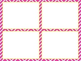 Blank Task Cards - Chevron Theme