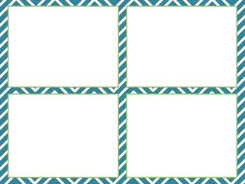 Blank Task Cards - Chevron Theme