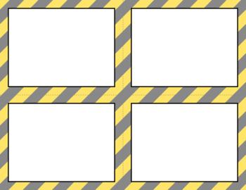 Blank Task Cards: Cloudy Day   Editable PowerPoint