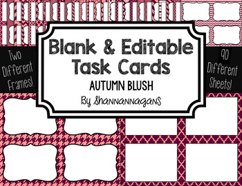 Blank Task Cards-Color Scheme: Autumn Blush (300dpi) with
