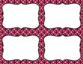 Blank Task Cards: Autumn Blush Collection (300dpi) | Editable PowerPoint