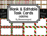 Blank Task Cards: Christmas  | Editable PowerPoint