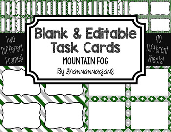 Blank Task Cards-Color Scheme: Mountain Fog (300dpi) with
