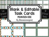 Blank Task Cards: Mountain Hike   Editable PowerPoint