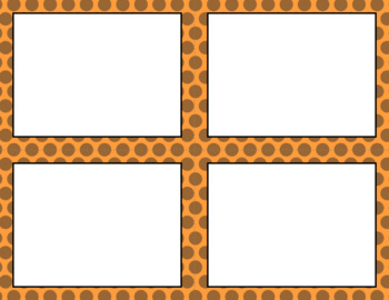 Blank Task Cards-Color Scheme: Pumpkin Patch (300dpi) with Editable PowerPoint
