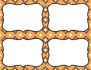 Blank Task Cards: Pumpkin Patch   Editable PowerPoint