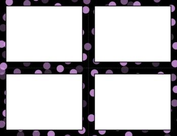 Blank Task Cards: Confetti - Black Background (300dpi) | Editable PowerPoint