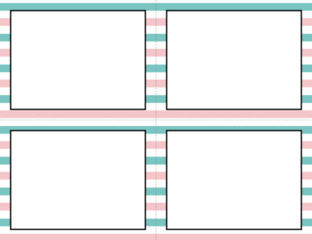 Blank Task Cards: Cotton Candy | Editable PowerPoint