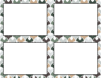 Blank Task Cards: Cozy Cabin | Editable PowerPoint