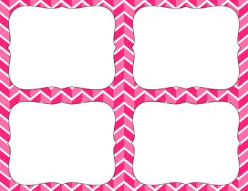 Blank Task Cards - Essentials:  Divided Chevron