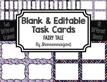 Blank Task Cards: Fairy Tale | Editable PowerPoint