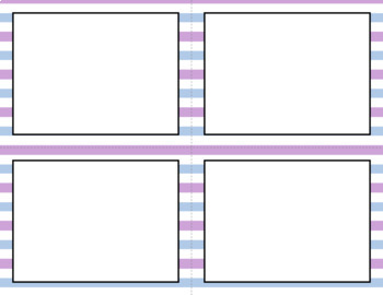 Blank Task Cards: Frostbite   Editable PowerPoint