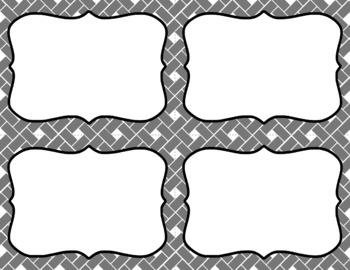 Blank Task Cards: Grayscale (300dpi) | Editable PowerPoint