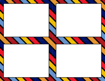 Blank Task Cards: Hero | Editable PowerPoint