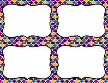 Blank Task Cards-Rainbow: Jewel Tone (300dpi) with Editable PowerPoint