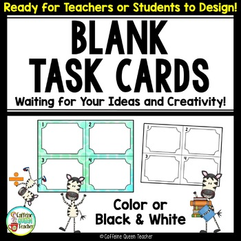 Task Cards - Students Make Their Own