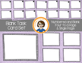 Blank Task Cards - Numbered and Empty - Purple Chevron