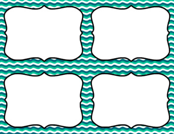 Blank Task Cards: Ocean Waves | Editable PowerPoint