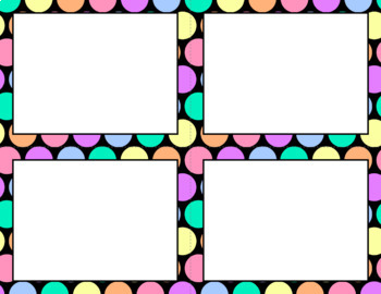 Blank Task Cards: Pastel Rainbow | Editable PowerPoint