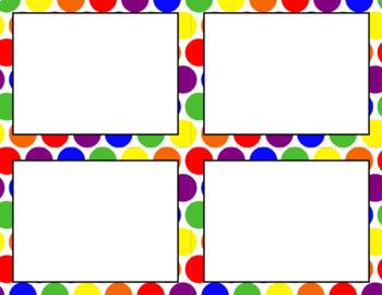 Blank Task Cards: Primary Rainbow | Editable PowerPoint
