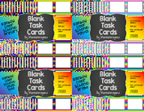 Blank Task Cards-Rainbow: Bundle (300dpi) with Editable PowerPoints