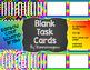 Blank Task Cards-Rainbow: Bundle (300dpi) with Editable PowerPoints