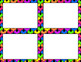 Blank Task Cards-Rainbow: Bright (300dpi) - with Editable PowerPoint